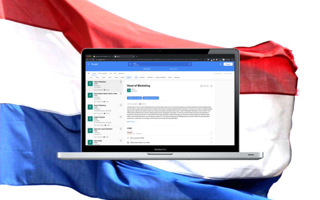 BREAKING NEWS: Google for Jobs officially launched in the Netherlands